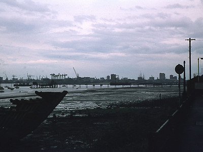 View from Priddy's Hard, Gosport towards Portsmouth Dockyard.