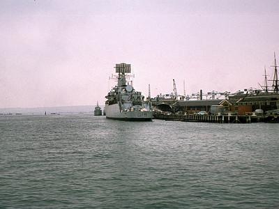 Portsmouth: HMS Glamorgan, County Class Destroyer