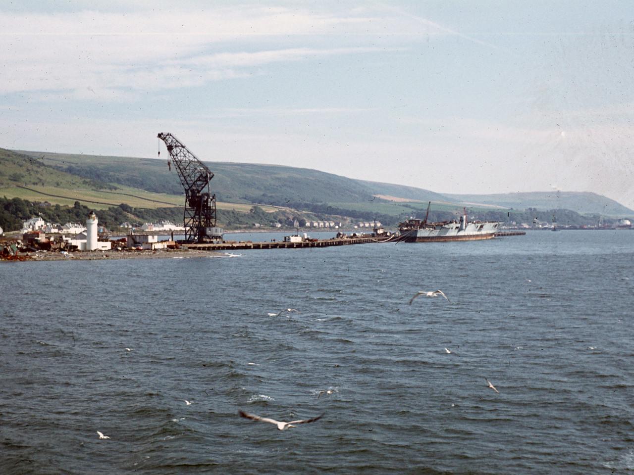 HMS Eagle at Breakers' Yard. c. 1979