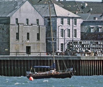 "Capella - ex German ""Windfall"" yacht, photographed at Devonport 1973"